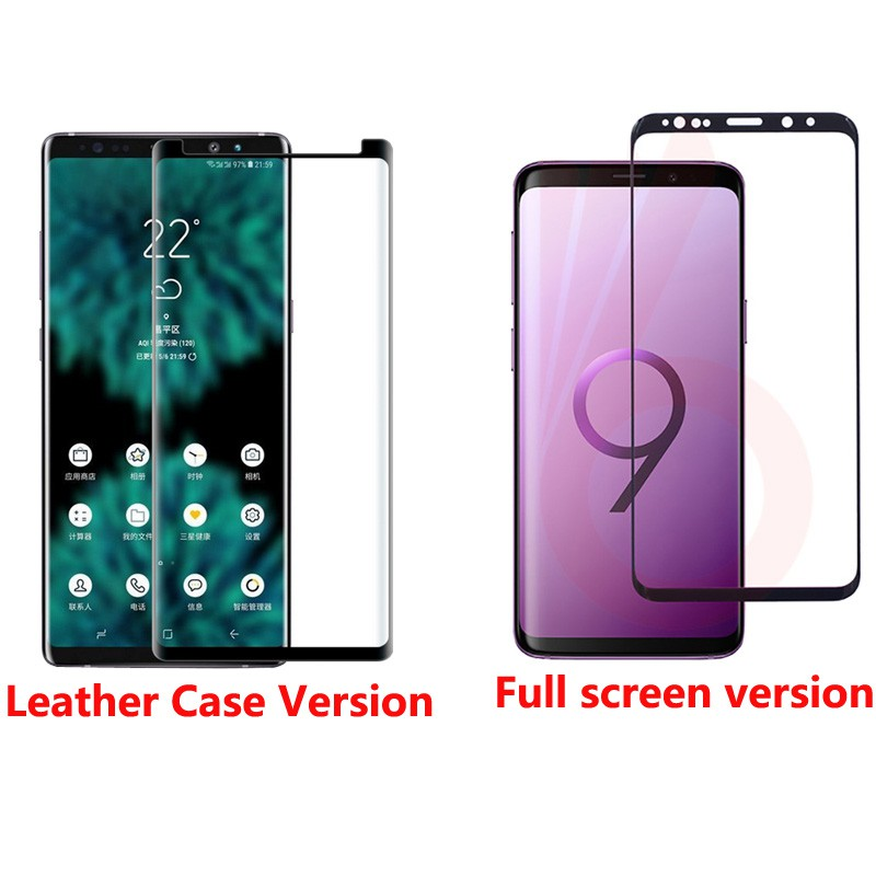 3D Curved Full Cover Tempered Glass For Samsung Galaxy Note 9 Screen  Protector