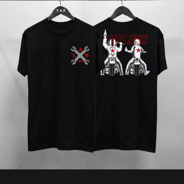 Deeyaneeshop Law Les Hitam Depan Belakang Kaos Distro Baju Pira Kaos Pria Atasan Pria Kaos Oblong Shopee Indonesia