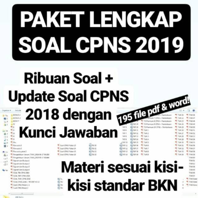Bank Soal Cpns 2019 E Book