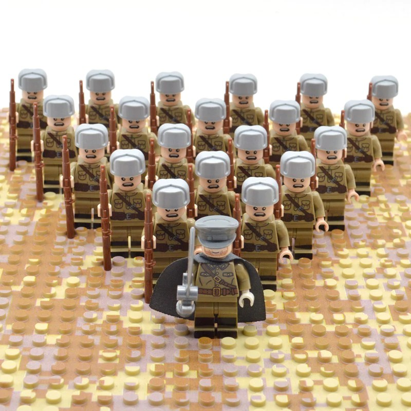 Weapon For Lego 21Pcs//set WW2 Military Soldiers France US Britain Italy Army