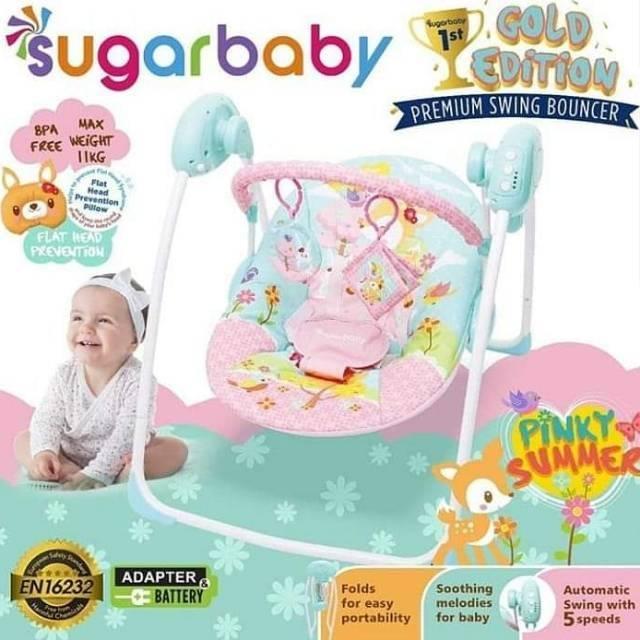 Swing bouncer sugar baby, ayunan listrik   Shopee Indonesia