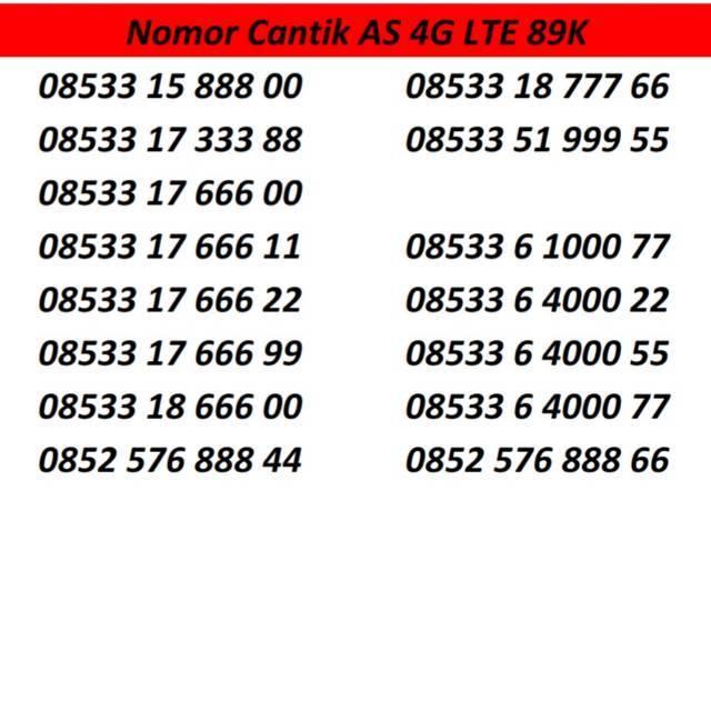 Nomor Cantik Simpati 11 Digit 4G LTE Telkomsel Bukan Nomer Loop Kartu Perdana as xl m3