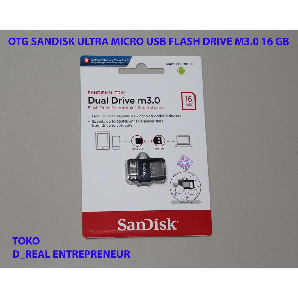 Sandisk Ultra Dual Usb Otg 32gb Flash Drive 30 Shopee Indonesia 16 Gb