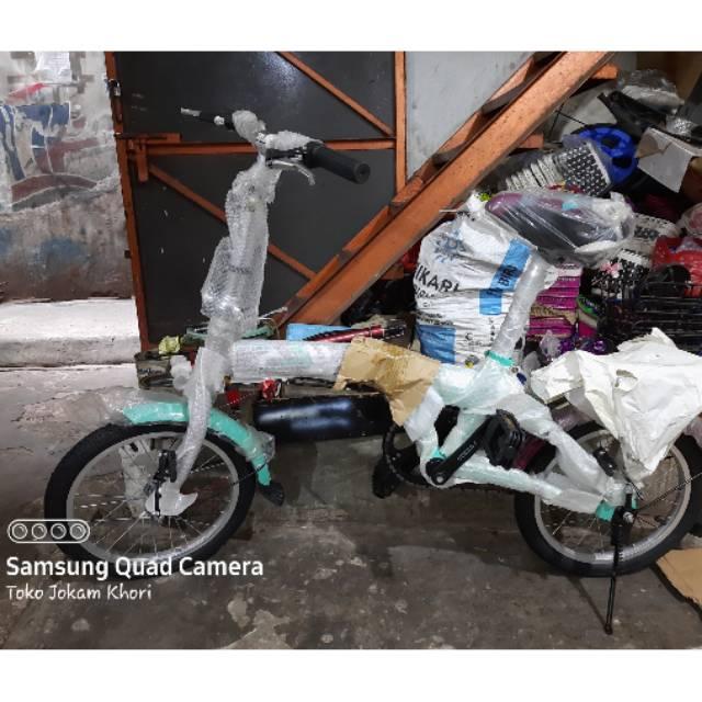 Sepeda Lipat Oodesy Anak Dewasa Ring 16 Folding Bike Lipet Odessy Shopee Indonesia