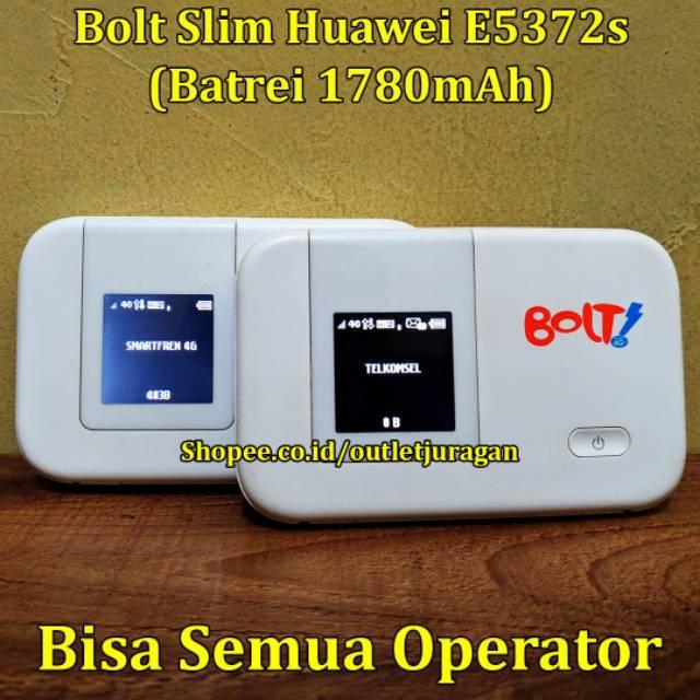 Modem MiFi Bolt Slim 1 Huawei E5372s UNLOCK 4G Telkomsel Smartfren 3G All  Operator GSM