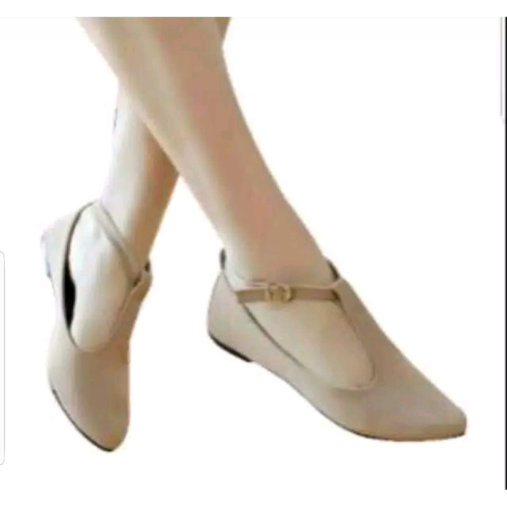 Belanja Online Sepatu Flat Wanita Shopee Indonesia Karet Suede