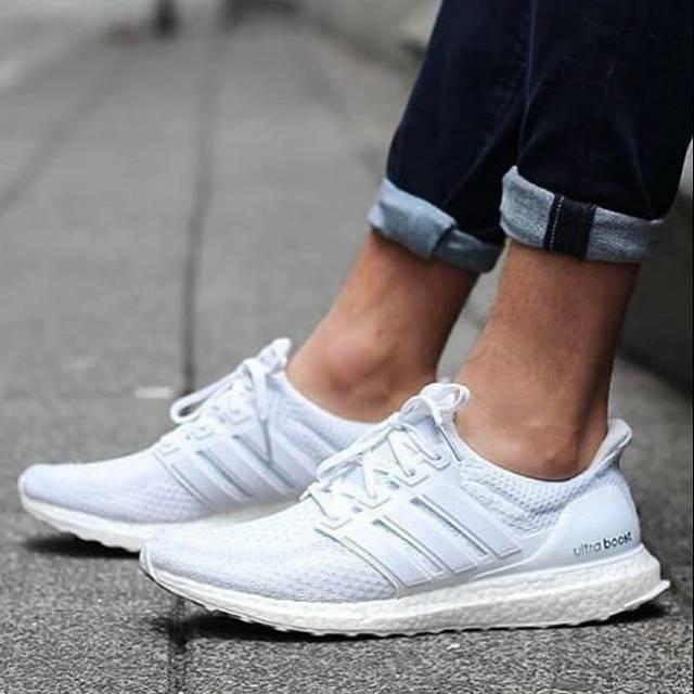 Sepatu Adidas Ultraboost Fullwhite Putih Sneakers Olahraga Jogging