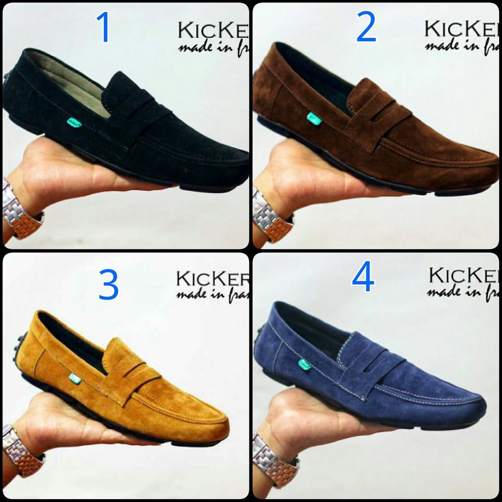Sepatu Casual Pria - Kickers Javin - Sneakers - Loafers - Slip On - Slop  907bc1add4