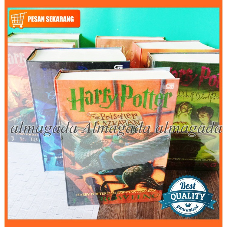 novel harry potter full set jilid 18 hard cover oleh