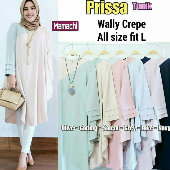 Hot Promo Atasan Hijab Pastel   Baju Murah   Pakaian Kerja Wanita   Prissa  Tunik  15dd10da2a