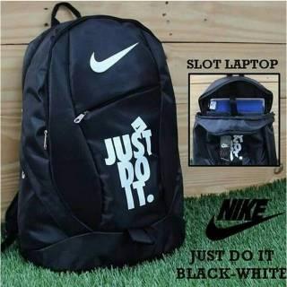 Tas Ransel Nike Just Do It - Tas Ransel Murah - Tas Pria - Tas Sekolah  bonus raincoat e6fba109d7