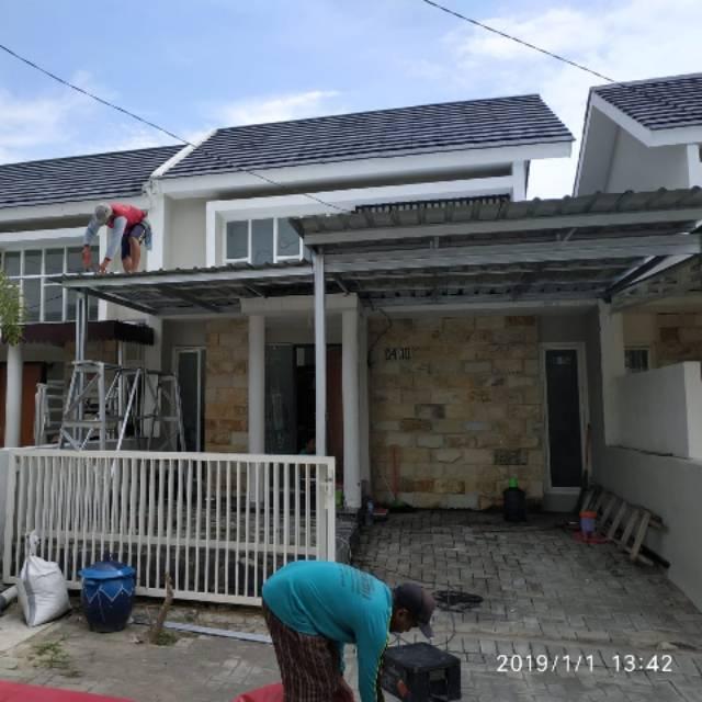 KANOPI BAJA RINGAN minimalis atap spandek galvalum