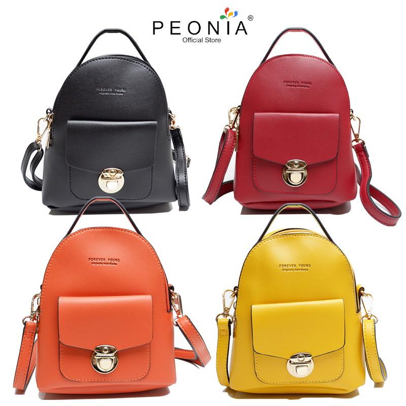 Peonia Tas Selempang Backpack Wanita Import Trendy Korea ...