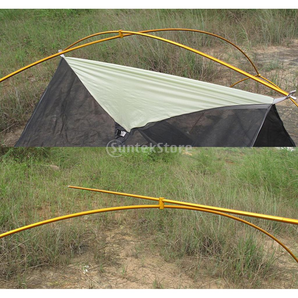 Plastic Outdoors Rotatable Camping Tent Awning Pole Connector Buckle