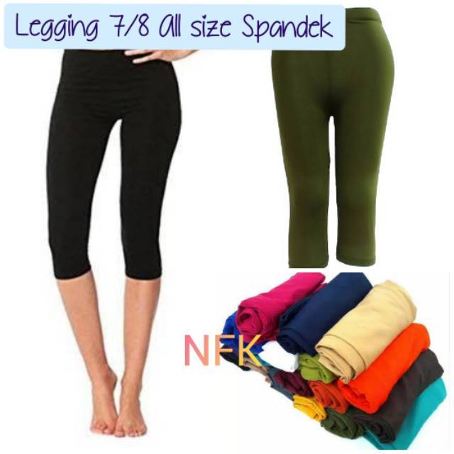 Legging Pendek 7 8 All Size Bahan Spandek Celana Legging Wanita Fit To L Best Quality Shopee Indonesia