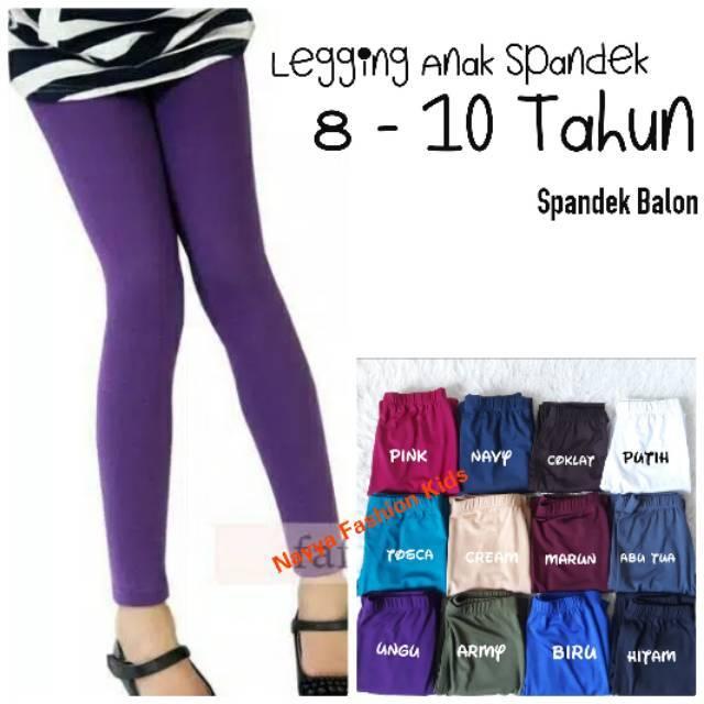 Legging Anak 8 10 Thn Bahan Spandek Licin Grosir Celana Legging Anak Shopee Indonesia