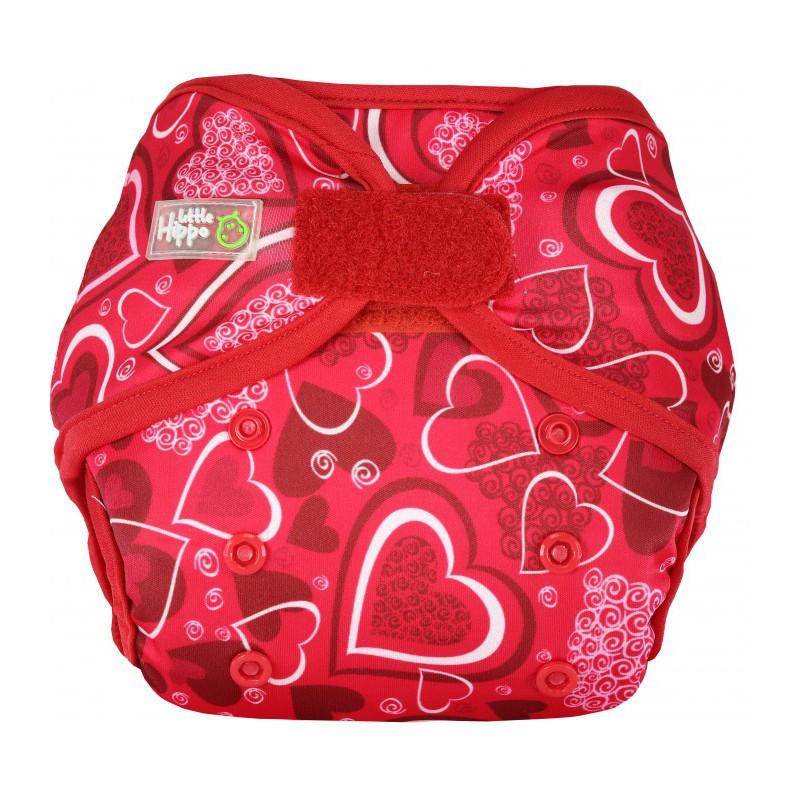 Little Hippo TeenyFit Newborn Size Motif Red Love Clodi Popok Bayi type Cover + 2 Insert Microfiber | Shopee Indonesia