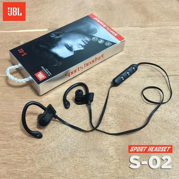Headset Bluetooth Sport Wireless Jbl S02 Shopee Indonesia