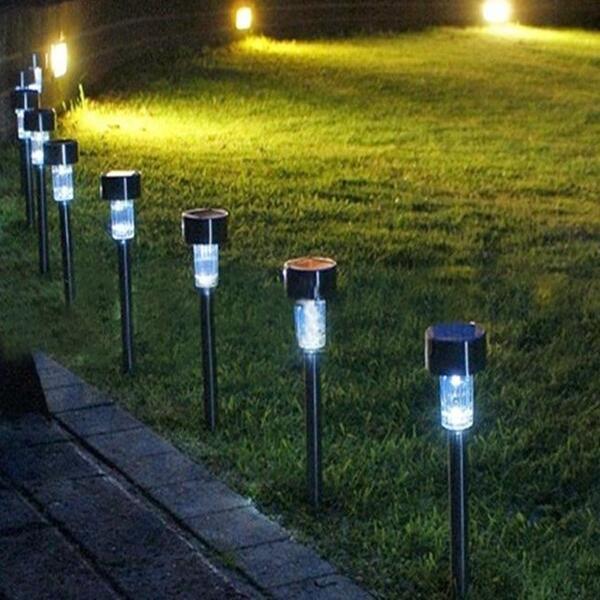 Lampu Taman Led Tenaga Surya Bentuk Tiang Untuk Outdoor Shopee Indonesia