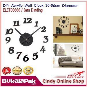 Dijual DIY Acrylic Wall Clock 30 50cm Diameter ELET00666 Jam Dinding  Limited  dd33a6aebf