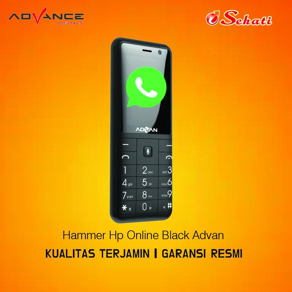Advan Hammer Handphone Online Handphone / Hammer Hp Online Black Advan - Bergaransi