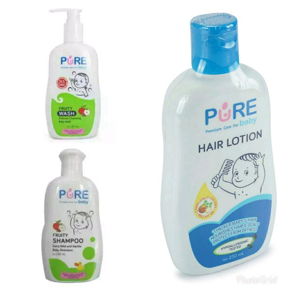 Paket Hemat Pure Baby Wash Dan Shampoo 230ml Fruity Pbc023 Shopee My Minyak Telon Plus 90ml 3pcs Mtk039 Indonesia