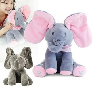 Best Price Boneka Gajah Cilukba Bisa Nyanyi Dan Main - Elephant Peek ... dbb0db960f