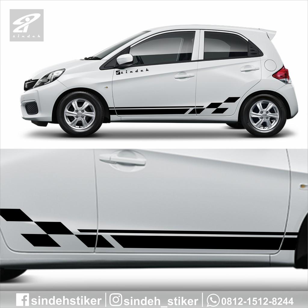 Cutting Sticker Mobil Striping Keren Elegant Stiker Mobil Brio Agya Ayla Avanza Swift Veloz Dll Shopee Indonesia