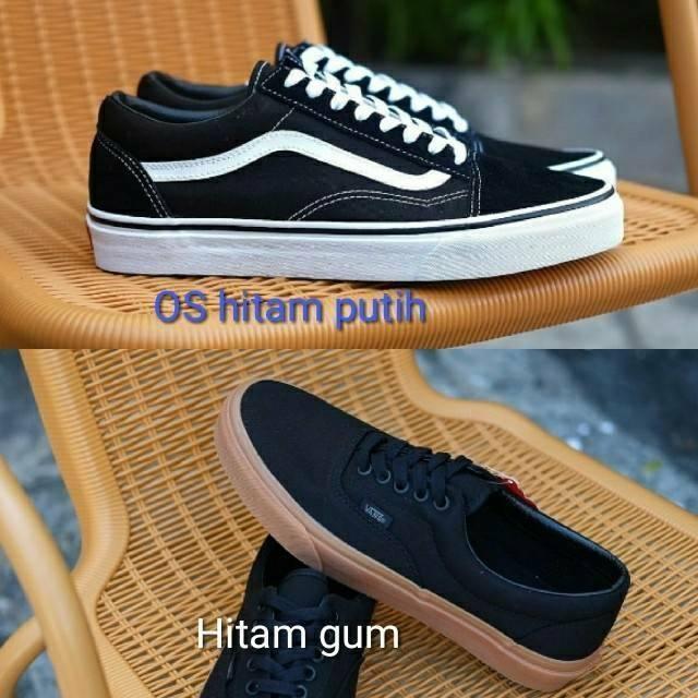 Sepatu Sneakers Vans SK 8 Hitam Putih Vans SK 8 Black White Sepatu Vans  Hitam putih Sepatu Hitam  1c22b72a8d
