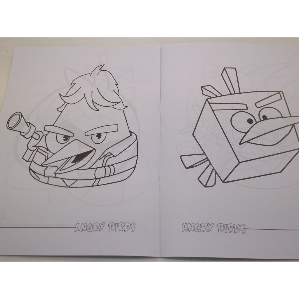 Buku Gambar Anak Paud Tk Mewarnai Gambar Kartun Angry Birds