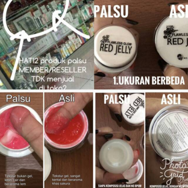 Ms Glow Red Jelly Original Vs Palsu Shopee Indonesia