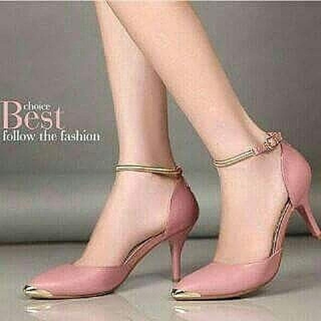 Amazara Aubrie Pink Heels Shopee Indonesia Joanna Hazelnut Cokelat Muda 37