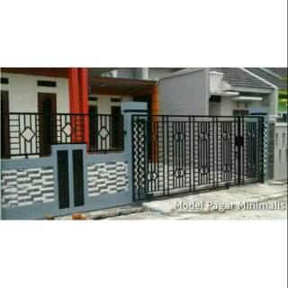 Pagar Besi Hollow Galvanis Minimalis Dan Alferon Classic Modern Mewah Shopee Indonesia