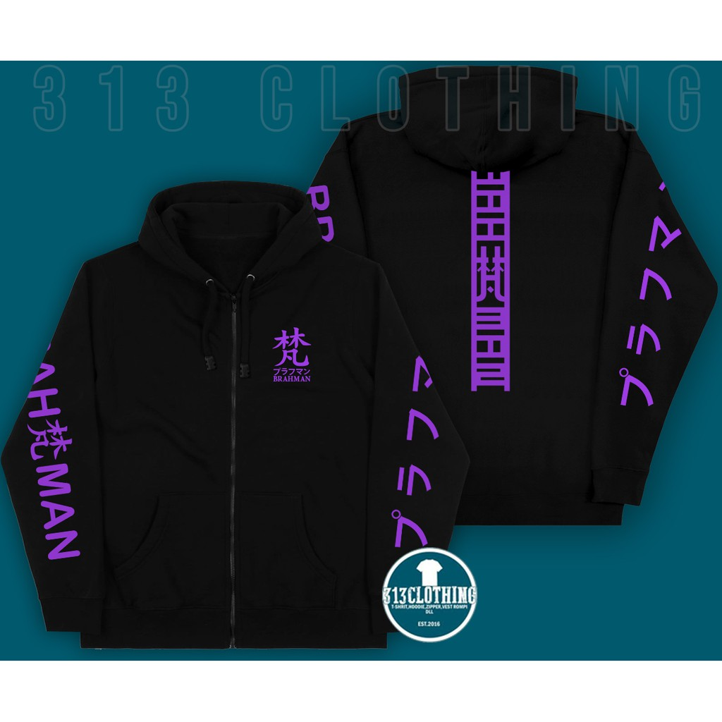 Jaket  Sweater Hoodie Zipper Tokyo Revengers Gang Brahman Anime Tokyo Manji Team Walhalla
