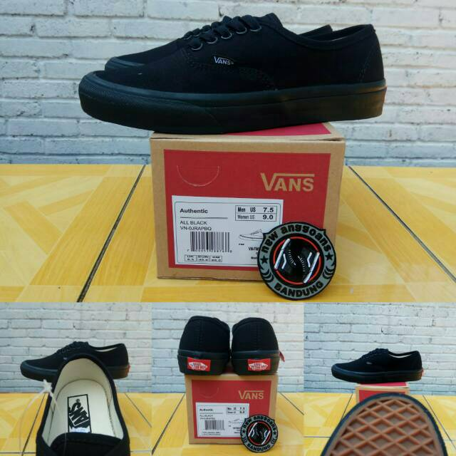 Sepatu Vans Authentic Calssic Basic Black Hitam Sol Gum - Original Premium  Waffle ICC DT BNIB China  2a88c52809