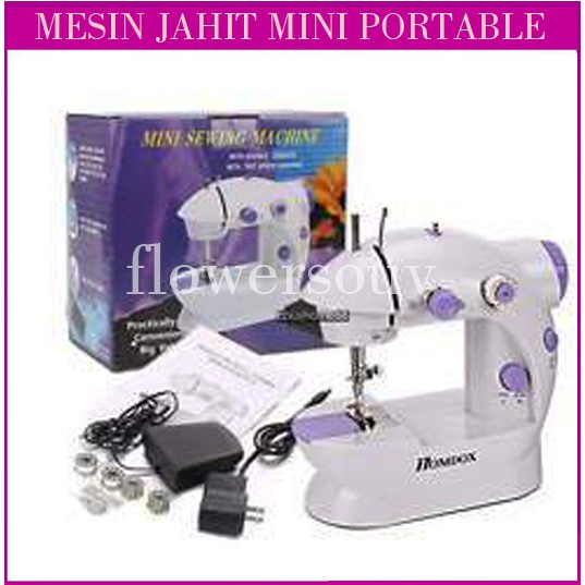 Mesin Jahit Portable BM 202 Mini Sewing Machine FHSM 202 | Shopee Indonesia