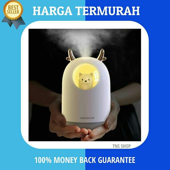 300ml Bear LED Ultrasonic USB Air Humidifier Aroma Essential Oil Diffuser BF#