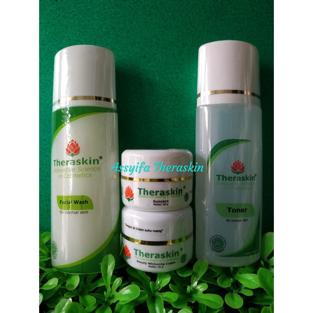 Theraskin Body Whitening Theraskin3 Daftar Harga Terkini Original Paket Acne  Pabrik Normal Shopee Indonesia