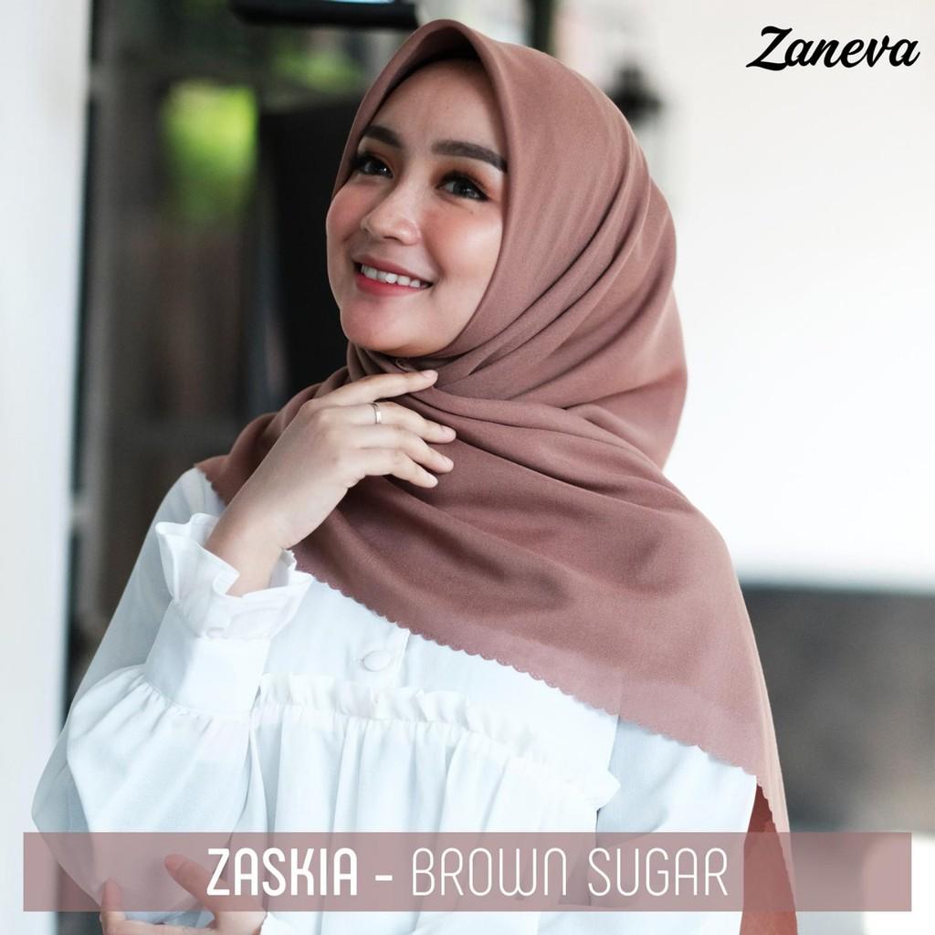 Promo Hijab Voal Polos Zaskia Laser Cutting Warna Coklat Brown Sugar Adem Jilbab Laser Cut Grosir Shopee Indonesia