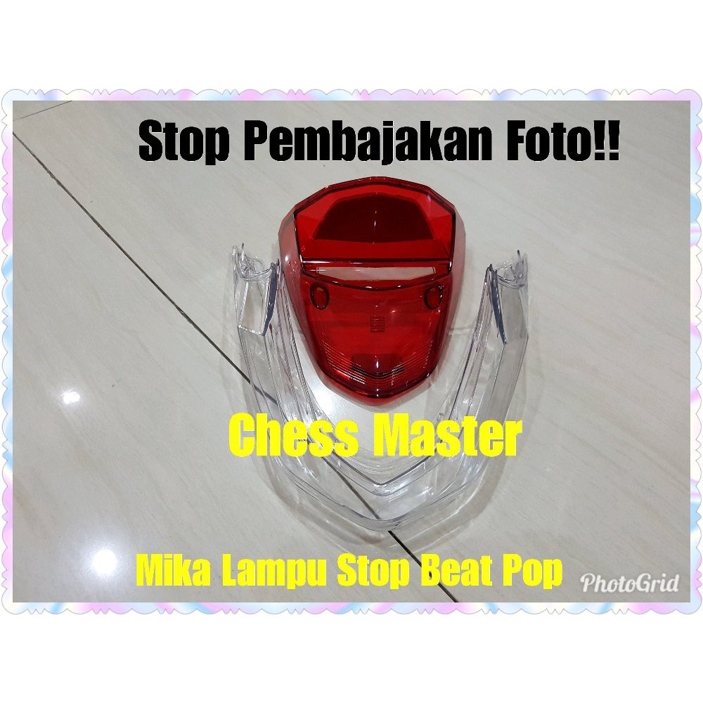 Murah Mika Lampu Stop Honda Beat Pop Limited Shopee Indonesia Belakang Bening Nouvo Z