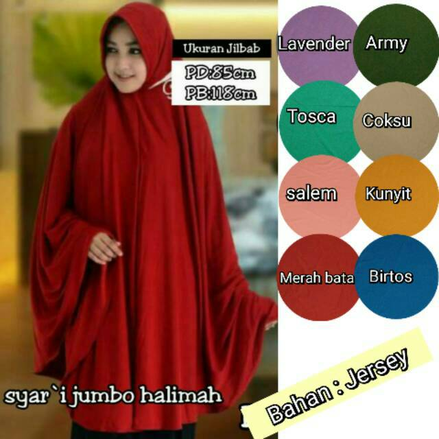 Promo Heboh Bergo Jersey Jumbo Jilbab Oki Setiana Dewi