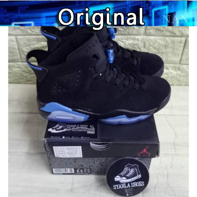 715445af406 Sepatu Model Nike Air Jordan 6 Retro UNC University Mirror Blue Mirror  [100% Asli] | Shopee Indonesia