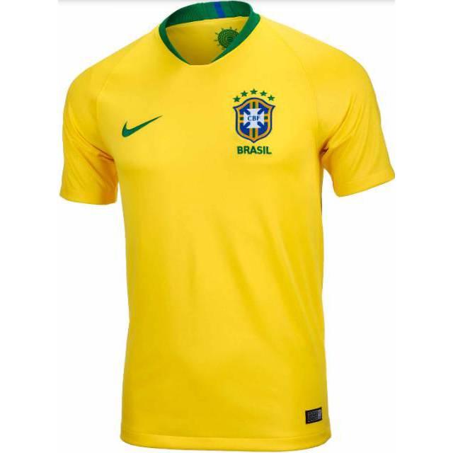7ff2eb2f777 LOKAL Jersey Brazil Away Biru Piala Dunia 2018 Baju Kaos Bola Brasil World  Cup ALLSIZE