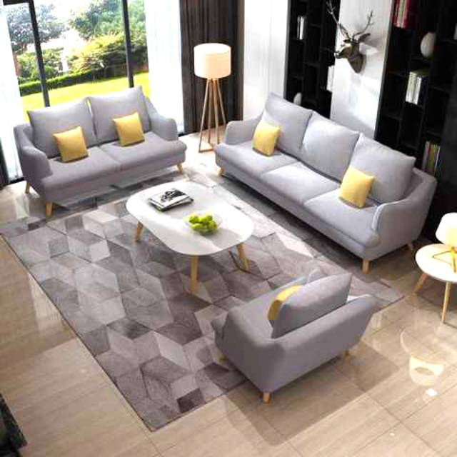 Living Room Abu Sofa Ruang Tamu