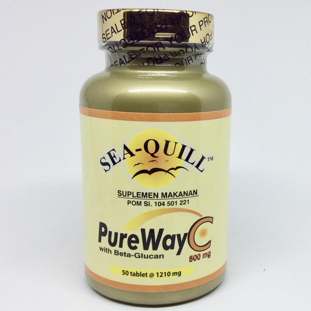 Sea Quill Pureway C 500 Mg Isi 50 Tablets Spec Dan Daftar Harga Sedafit Relafit Pure Way 500mg Vitamin Aman Untuk Lambung Tablet