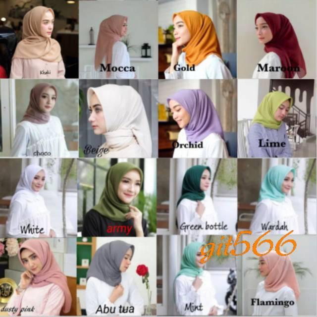 Hijab Segiempat Laudya Square Bella Square Doubell Hycon