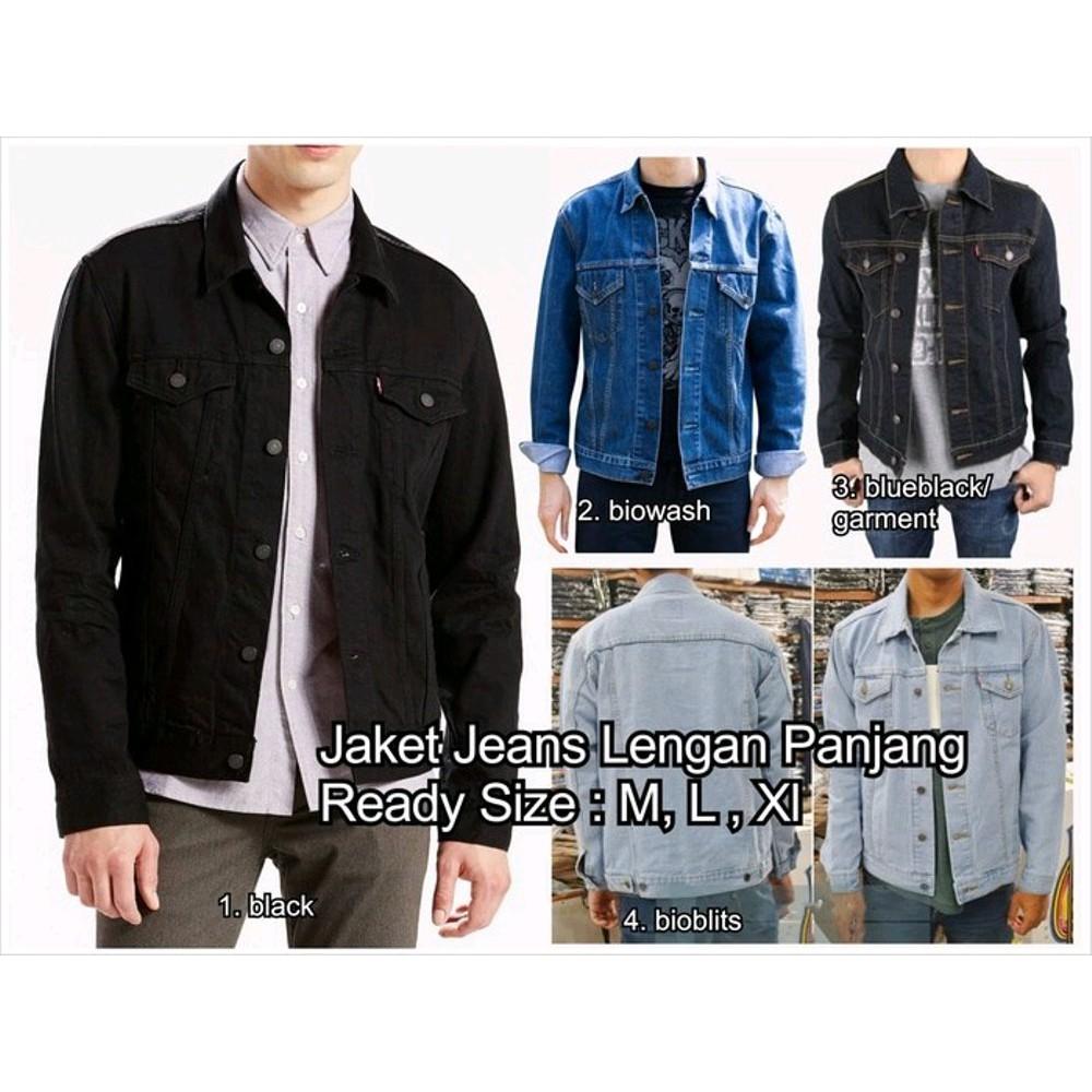 TERBAIK jaket jeans jaket levis cowok jaket denim pria bandung EXCLUSIVE  55e2ae4d74