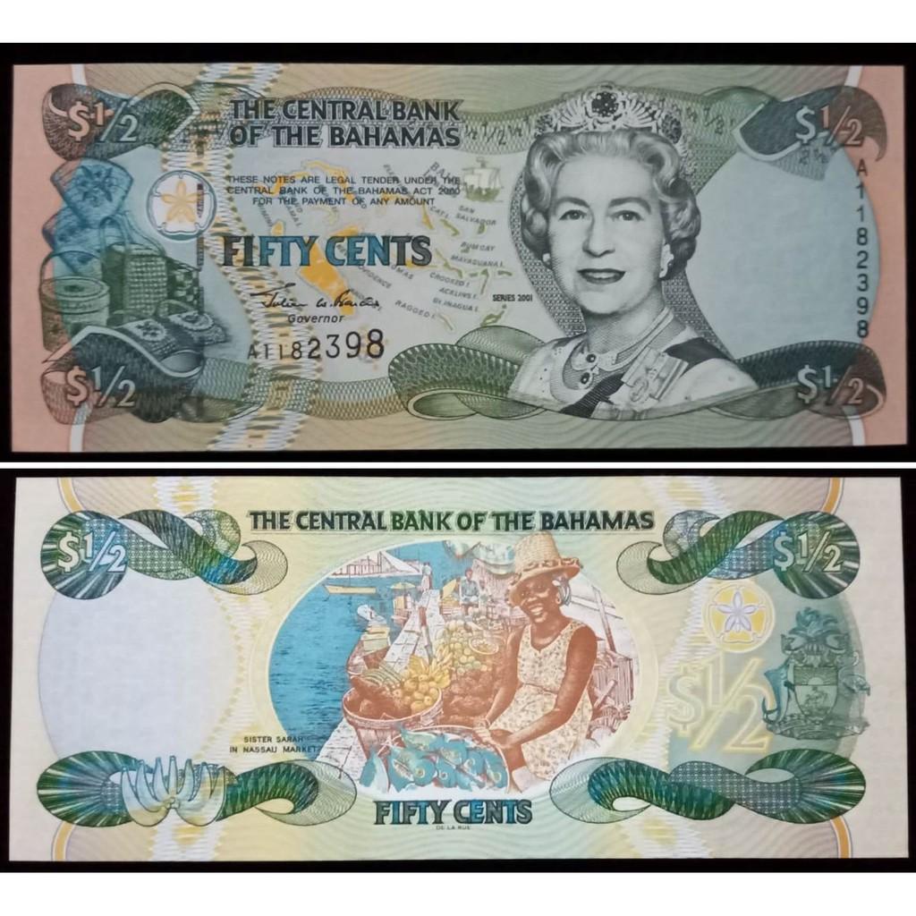 Uang Kuno Bahamas/ Bahama 50 Cents UNC