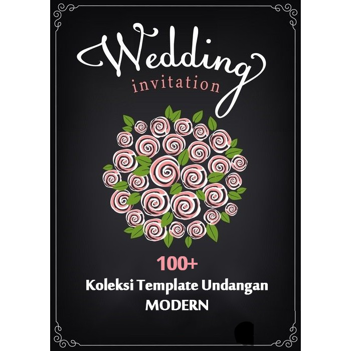 DESAIN UNDANGAN ROMANTIC WEDDING CARD KOLEKSI TEMPLATE DESIGN GRAFIS WEDING USAHA PERCETAKAN | Shopee Indonesia