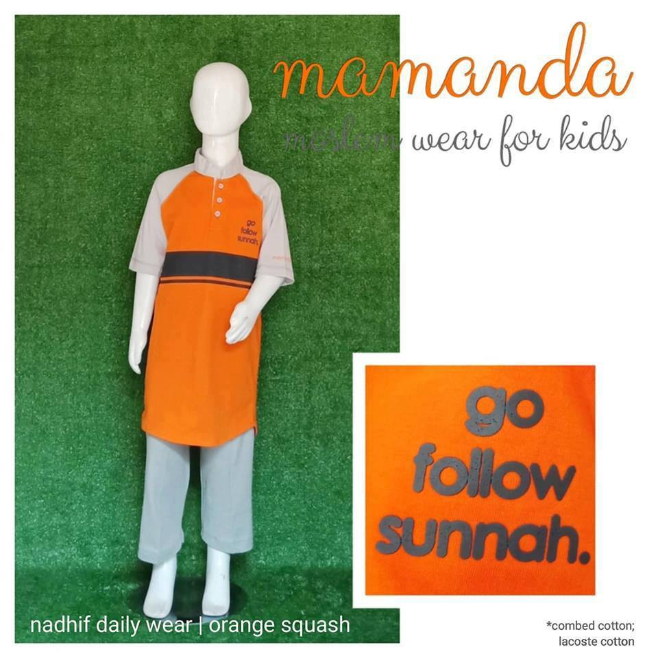 Koko Anak Mamanda Orange Squash (Set Nadhif Daily Wear)